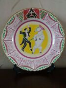 Art Deco Clarice Cliff Circus Plate Designed By Dame Laura Knight First Edition