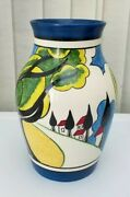 Clarice Cliff May Avenue Wedgwood Isis Vase 014/250 1999 Boxed - Stunning Nm.