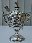 Stunning Victorian Sterling Silver Table Top Lighter William Comyns C1897 280g