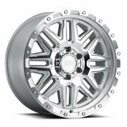 18 Black Rhino Alamo Silver W/mirror Face And Stainless Bolts Wheels Qty 4