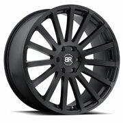 24 Black Rhino Spear Matte Black Wheels Qty 4