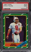 1986 Topps Football Steve Young Rookie Rc 374 Psa 9