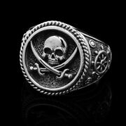 Clocks And Colours Jolly Roger .925 Sterling Silver Size 12 Discontinued Ring