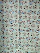 Bright Owl Toss  Springs Quilt Green Multi Flannel Cotton Fabric Sbtyx42