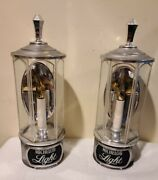 2 Vintage Michelob Beer Sconce Candle Lights Signs Anheuser Busch