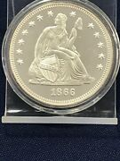 2 Troy Ounce  .999 Silver  Copy 1866 Seated Liberty Quarter Dollar