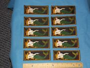 Vintage - Lot Of 10 - Wwii Navy Mermaid Silk Patches - Mint