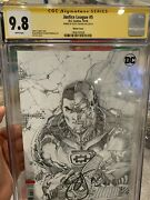 Justice League 5 Cgc Ss 9.8 Lee Sketch Variant Signed By Scott Snyder