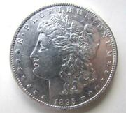 1895-0 Morgan Silver Dollar Very Rare Date Free Shipping In U.s.a.