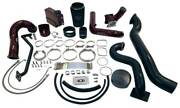 Wc Fab Twin Turbo Kit S400/stock For 07.5-2010 Duramax Lmm Cherry Frost