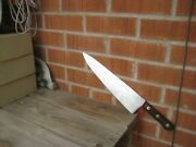 1930s Vintage 12 1/2 Blade French Sabatier Style Heavy Carbon Chef Knife France