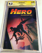 Cgc Ss 9.2 Hero Illustrated 6 Lenticular Spider-man Cover Signed Lee And Ross