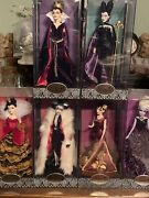 Disney Villains Designer Collection 6 Pc.doll Set 'all' Are Numbered 17