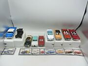 Lot Of 9 Vintage Arko Motor Museum Ford Silver Age Diecast Model 132 Fairlane