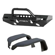 Aries 2082096 Trailchaser Front Bumper And Fender Flares For Jeep Jl Option 8