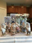 Lladro 7555 7533 - 7539 7558 Snow White And 7 Dwarfs And Wishing Well - Boxes - Mint