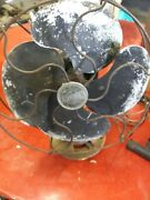 Vintage Emerson Oscillating Fan 10 Blade One Speed Cast Iron Base