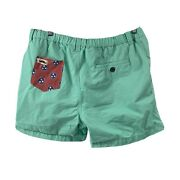 Campus Stache Shorts Teal Tennessee Pocket Mens Size Xl 5 In Inseam Casual Short