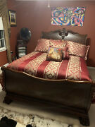 Queen Headboard And Footboard Wood - Local Pick-up Only Monmouth County Nj