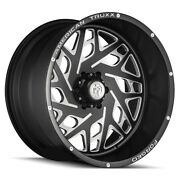 22 American Truxx Forged Aries Matte Black W/milled Accent Wheels Qty 4