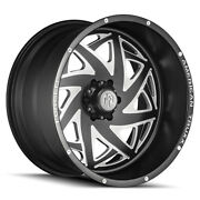 22 American Truxx Forged Kronos Matte Black W/milled Accent Wheels Qty 4