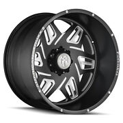22 American Truxx Forged Orion Matte Black W/milled Accent Wheels Qty 4
