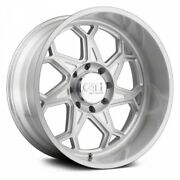 22 Cali Off-road Sevenfold Brushed And Clear Coated Wheels Qty 4