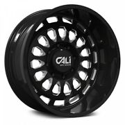 24 Cali Off-road Paradox Gloss Black W/milled Spokes Wheels Qty 4