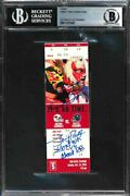 Bas Ticket Emmitt Smith Auto Jerry Rice Auto Signed Autograph Goat Rb And Receiver