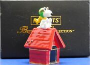 Peanuts Snoopy Flying Ace Dept. 56 Trinket Box Sample Mint In The Box