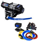 Kfi A2000 Atv 2000 Lb Winch And Mount For 2002-2008 Yamaha Grizzly 660 4x4