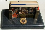 Early Cadillac Salesmanand039s Marble And Brass Desk Business Card Dispenser G415