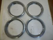 Oem 58-72 Chevrolet Rally Wheel Trim Rings 15 X 7 With Ring Style Clips 4