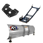 Kfi 54 Snow Plow With Push Tubes And Mount For 2018 Textron 700 Alterra Tbx 4x4