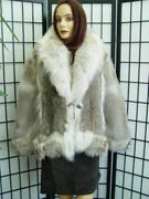 Brand New Sheared And Long Haired Coyote Fur Jacket Coat Women Woman Size 2-4