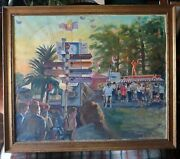 Frank Tauriello-oil Paintingand039-clock Tower At La County Fair