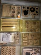 Stampin' Up Stamps Set Lot Of 37 - New, Used And Unmounted Price Reduced