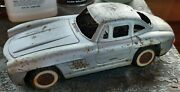 Vintage Mercedes Benz Tin Friction Toy Car, Unbranded, For Parts Or Repair Only
