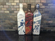 3 Empty Johnny Walker Set Game Of Thrones A Song Of Fire / Ice White Walker