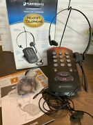 Plantronics Headset Telephone T10 Single-line Hands Free Includes Box Tested B5