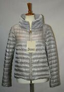 Herno Ladybug Long-sleeve Lightweight Packable Puffer Jacket W/ Cape Silver - 42