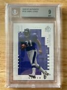 2000 Sp Authentic 132 Jamal Lewis Rookie Football Card Rc Bgs 9 1148/1250 Made