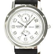 Auth Hermes Watch Clipper Gmt Power Reserve Cl2.810 Automatic Case 38mm Date F/s