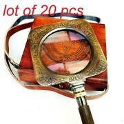 Brass Henry Hughes And Sons Antique Magnifying Glass Magnifier With Leather Case