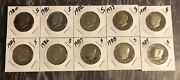 1980-s To 1989-s Kennedy Half Proof Set - 10 Year Decade Set 011