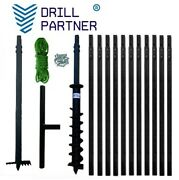 Hand Auger 4-3/4inch / 54ft Best Auger / Digger / Water Well / +clay Drill-bit