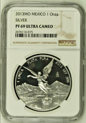 2013 Mo Mexico 1 Onza Silver Proof Libertad   Ngc Pf69uc   In Top 464 Ngc Coins