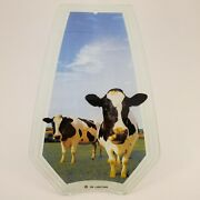 Ok Lighting Replacement Glass Panel Cows In Field Farmhouse Rustic