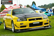 For Nissan Skyline R34 Gtr As Style Frp Front Bumper Lip With Undertray
