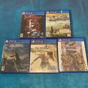 Lot Of 6 Jrpg/anime Playstation 4 Games For Weebs Used - Ps4 Lot